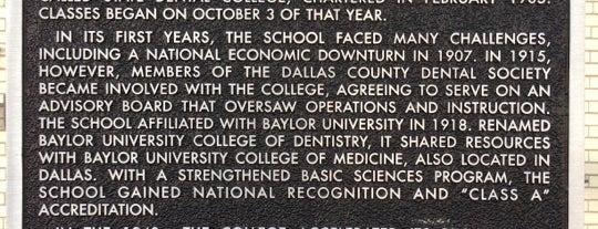 Texas A&M University Baylor College of Dentistry is one of Devin'in Beğendiği Mekanlar.