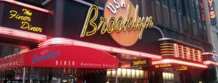 Brooklyn Diner is one of times square refuge.
