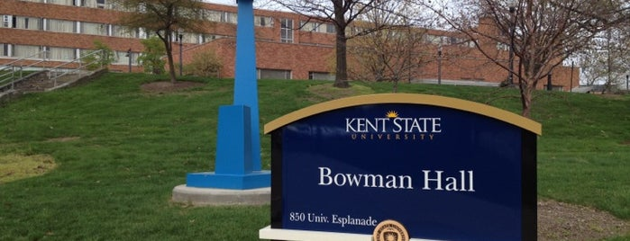 Bowman Hall is one of Kent State.
