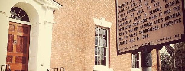 Robert E. Lee's Boyhood Home is one of Washington DC.