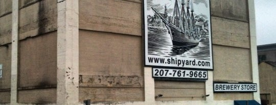 The Shipyard Brewing Company is one of Portland.