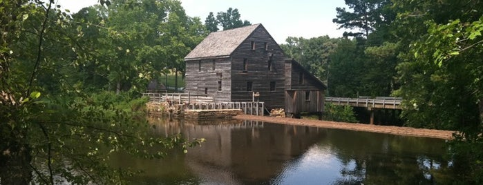 Historic Yates Mill County Park is one of RDU Baton - Raleigh Favorites.