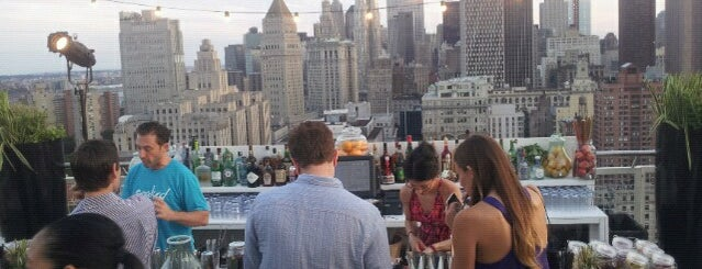 Soaked @ Mondrian Soho is one of Best Rooftop and Outdoor Bars in New York City.