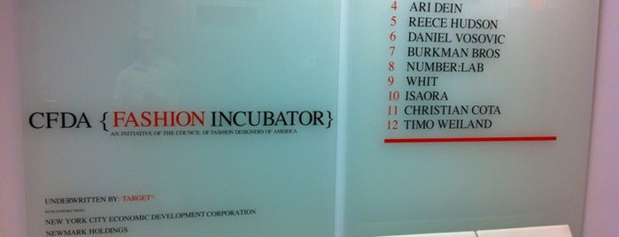 CFDA Fashion Incubator is one of Silicon Alley, NYC (List #2).