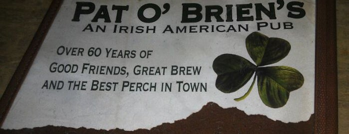 Pat O'Brien's is one of restaurants and bars around the world.