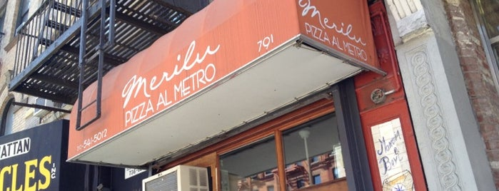 Merilu Pizza Al Metro is one of NYC - American, Pizza, Bar Food.