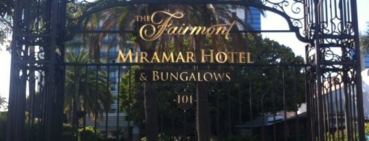Fairmont Miramar Hotel & Bungalows is one of California.