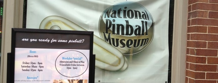 National Pinball Museum is one of Historic Sites - Museums - Monuments - Sculptures.