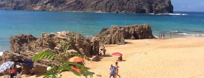 Praia da Calheta is one of Tempat yang Disukai José Luis.