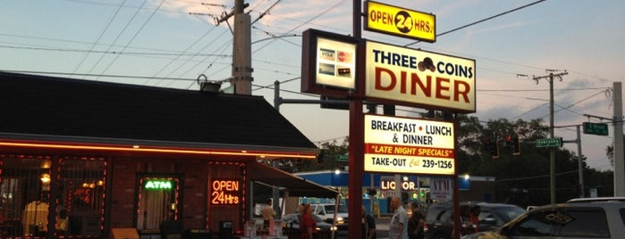 Three Coins Diner is one of Gotta Grub List:  Tampa.