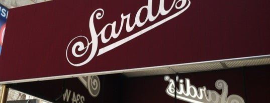 Sardi's is one of NYC spots.