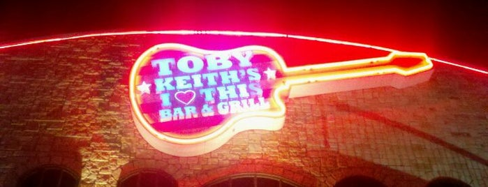Toby Keith's I Love This Bar and Grill is one of Places to Eat in OKC.