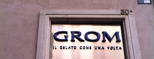 Grom is one of Italian.