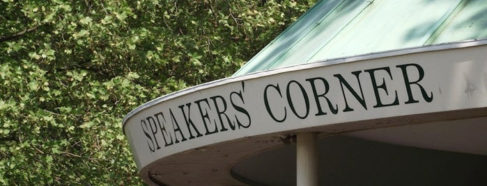 Speakers' Corner is one of Must Visit London.