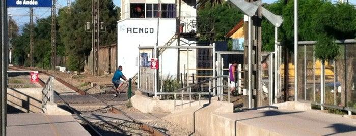 Estación de Ferrocarril Rengo is one of Estaciones Metrotrén y Expreso Maule.