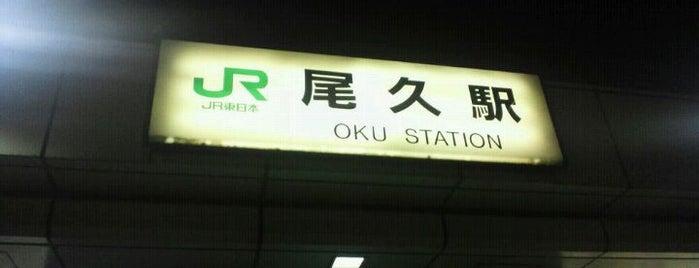 Oku Station is one of JR 미나미간토지방역 (JR 南関東地方の駅).