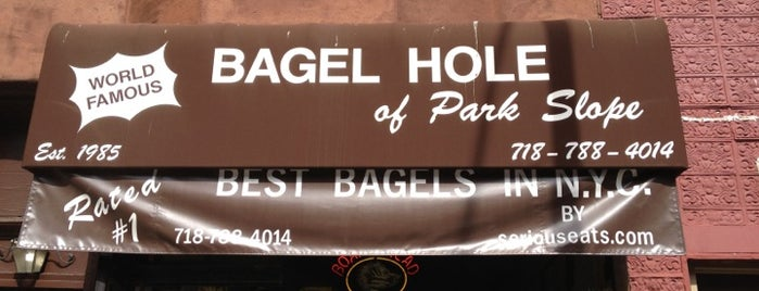 Bagel Hole is one of Brooklyn stuff.