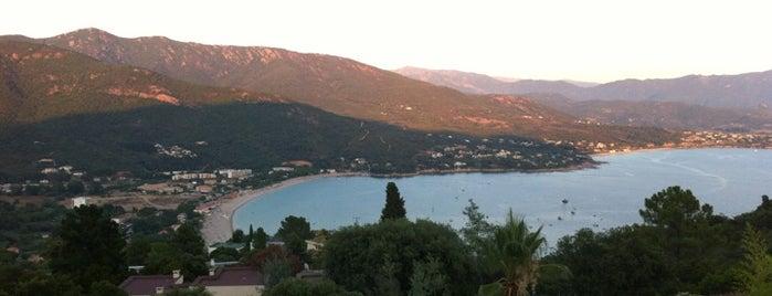 Sagone is one of La Corse par la côte ouest.