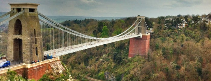 Clifton Suspension Bridge is one of Bristol, May 2014.
