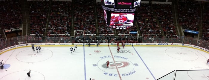 PNC Arena is one of NHL arenas.