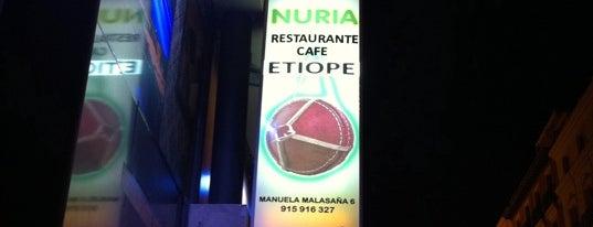 Restaurante Etiope NURIA is one of Mi pelo mundo.