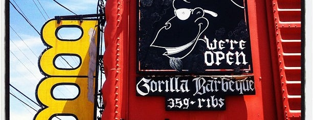 Gorilla Barbecue is one of Diners, Drive-Ins, and Dives.