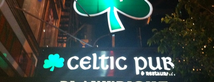 Playwright Celtic Pub is one of The Gray Line New York Eat and Play Card.