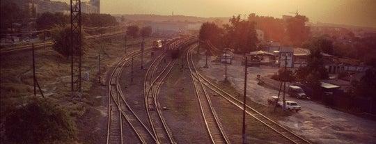 Пешеходный мост ч/з ж/д is one of Белгород (Belgorod).