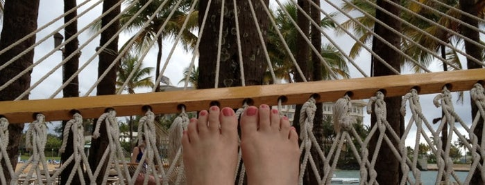 Hammock on the beach - Isla Verde is one of San Juan, Puerto Rico.