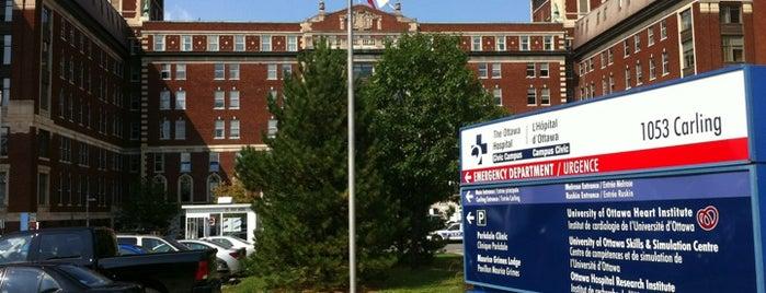 Ottawa Hospital - Civic Campus is one of Posti che sono piaciuti a Melissa.