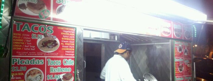 Tacos Morelos is one of carritos en NyC.