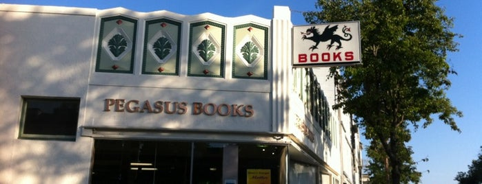 Pegasus Books is one of Bookshops - US West.