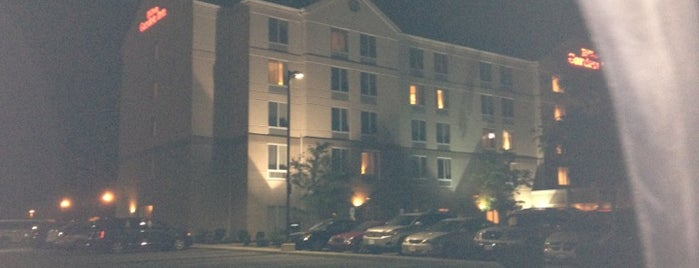 Hilton Garden Inn is one of places.