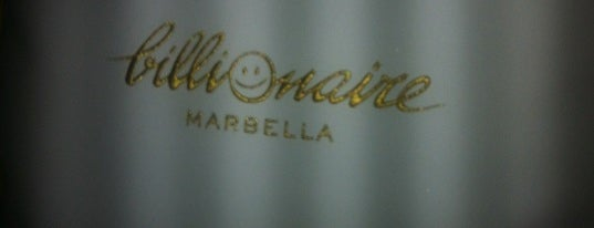 Billionaire Club is one of Marbella.