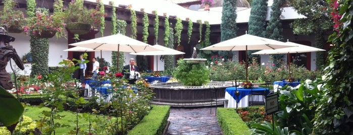 San Angel Inn is one of Mexico DF.