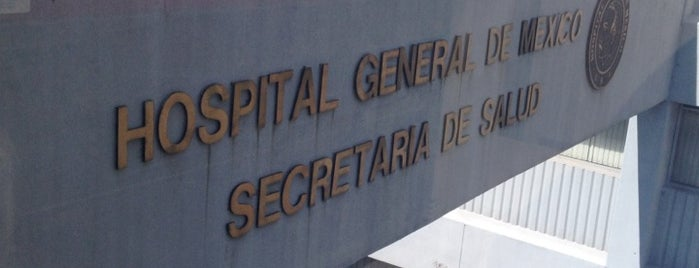 "Hospital General de México ""Dr. Eduardo Liceaga"" is one of Lugares favoritos de Jenny."