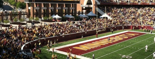 TCF Bank Stadium is one of Sporting Venues To Visit.....