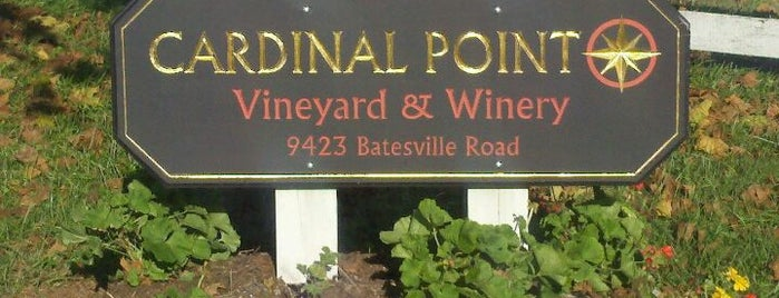 Cardinal Point Vineyard & Winery is one of VA Win that's Fine!.