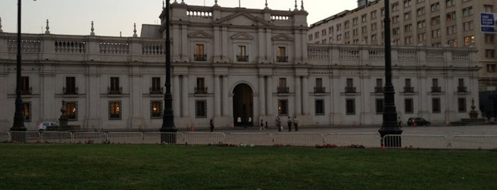 Palacio de La Moneda is one of [S]antiago.