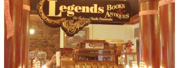 Legends Books, Antiques & Old-Fashioned Soda Fountain is one of Heading East 2017.
