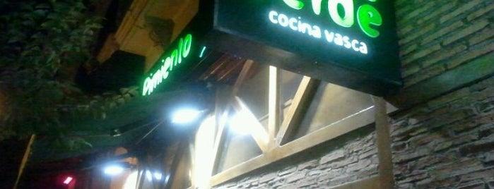 Pimiento Verde is one of Comer en Madrid.