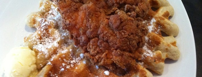 Dame's Chicken & Waffles is one of Bull City Foodie Favorites.
