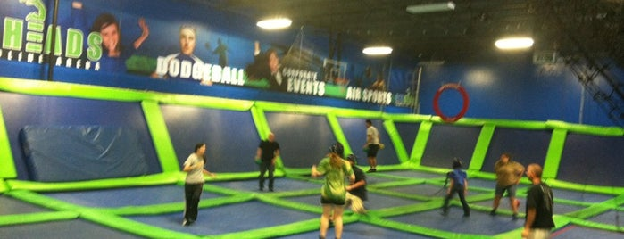 AirHeads Trampoline Arena is one of Blondie's favorite dating spots.