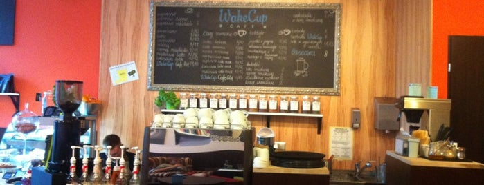 WakeCup Cafe is one of Alina 님이 저장한 장소.