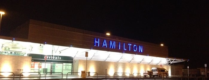 Hamilton International Airport (HLZ) is one of Locais salvos de JRA.