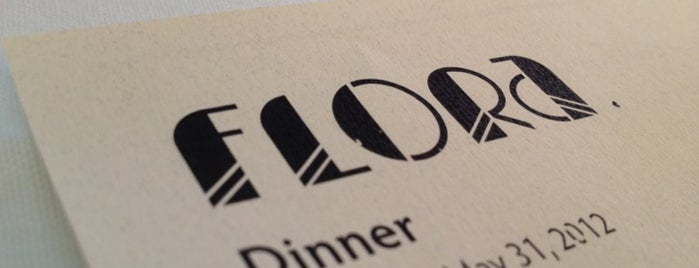Flora Restaurant & Bar is one of Lugares favoritos de Frank.