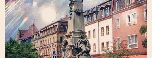 Ludwig-Eisenbahn-Denkmal is one of Nürnberg, Deutschland (Nuremberg, Germany).