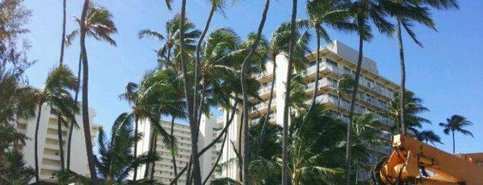 The New Otani Kaimana Beach Hotel is one of Waikiki.