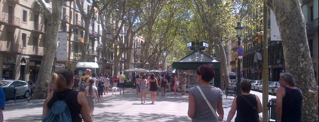 La Rambla is one of Barcelona.
