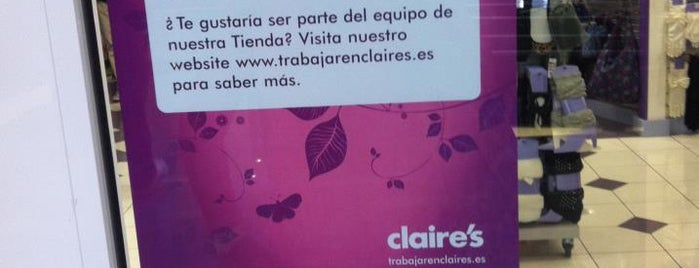 Claire's is one of Ofertas de Trabajo Comercios Barcelona.
